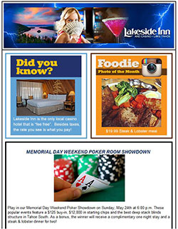 Lakeside Inn Email Newsletter